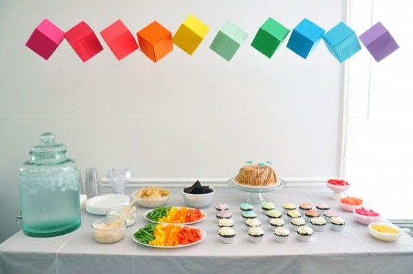 Tabla Rainbow Food Party