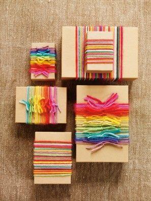 Rainbow Hilados papel de regalo
