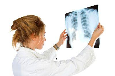 médico y de rayos x