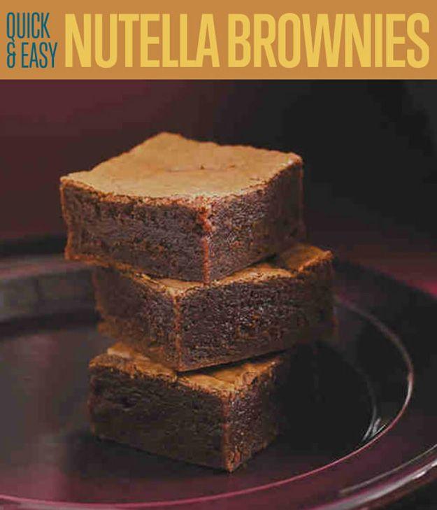 Fotografía - Rápido y Fácil Nutella Brownies Receta