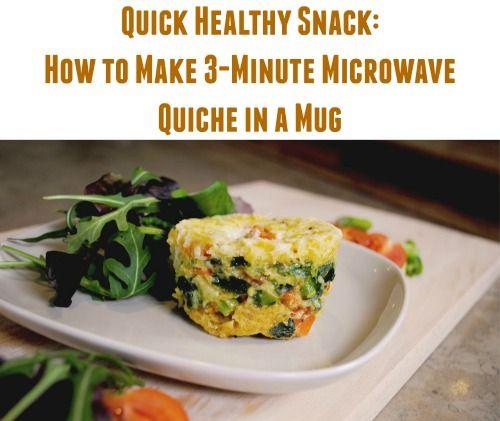 Merienda Saludable rápida: Cómo hacer 3 Minuto Microondas Quiche en una taza
