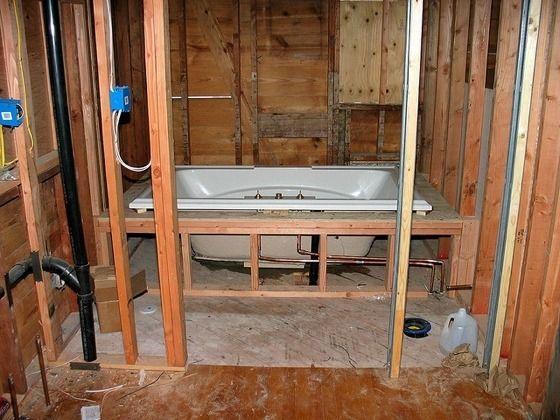 La instalación de una bañera