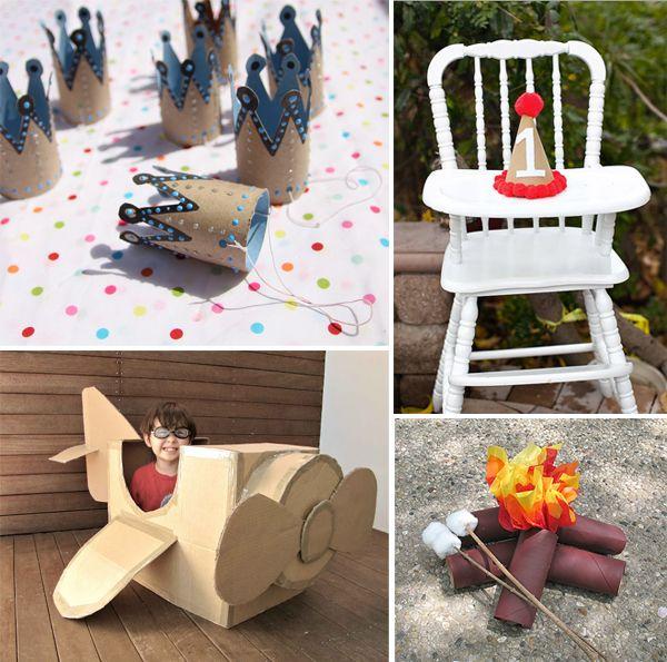 reciclado de cartón-party-artesanías-para-niños