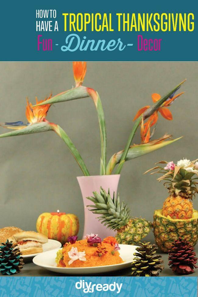 Cómo tener una acción de gracias Tropical, échale un vistazo a http://artesaniasdebricolaje.ru/say-aloha-to-a-tropical-thanksgiving-dinner-video