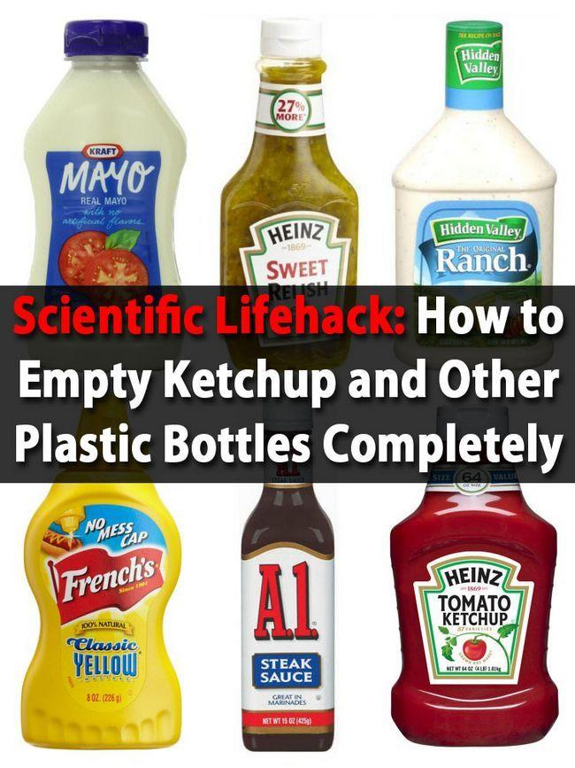 Lifehack científico: Cómo vaciar la salsa de tomate y otras botellas de plastico