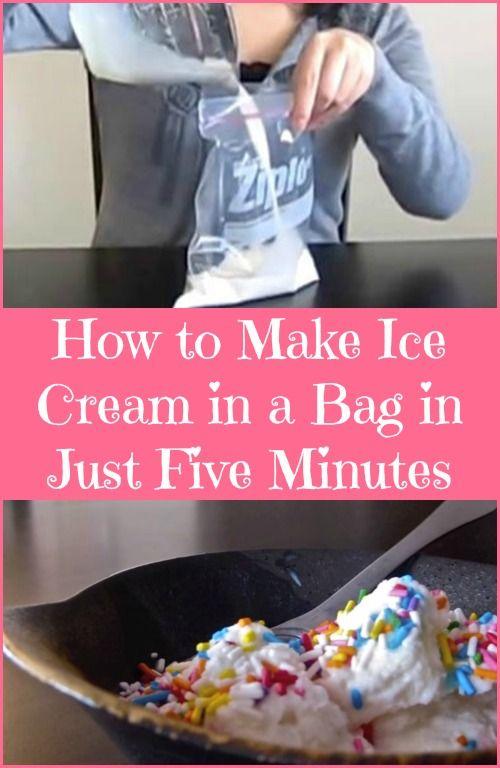 Ver para creer - Cómo hacer helado en una Bolsa en sólo cinco minutos ... Yumm