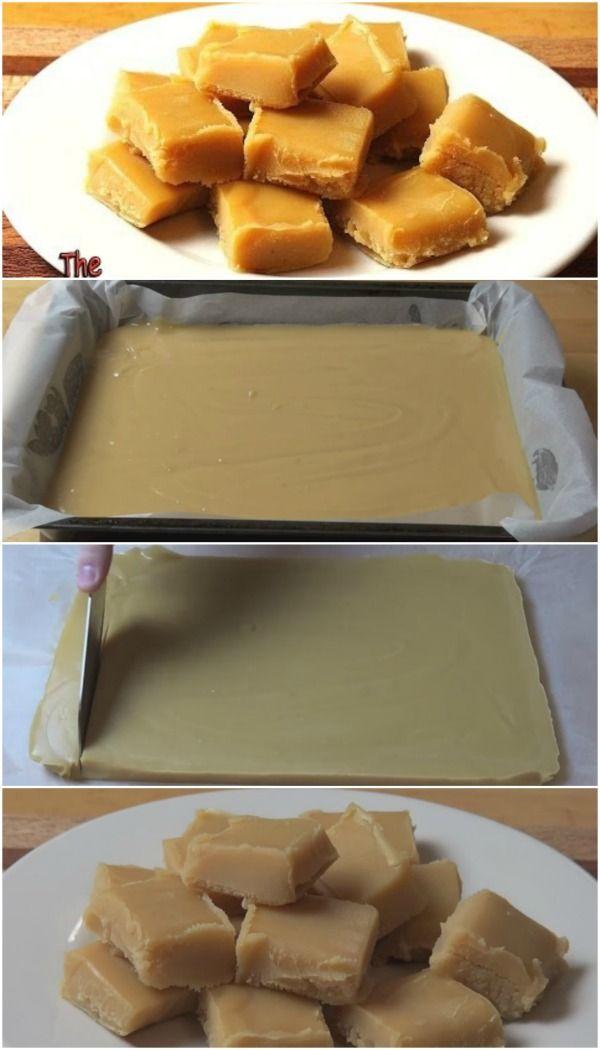 Pecaminosamente delicioso Chewy Peanut Butter Fudge Congelador - Simple pero brillante!
