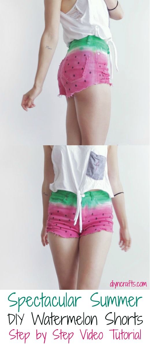 Espectacular bricolaje verano sandía Shorts Paso a Paso Video Tutorial