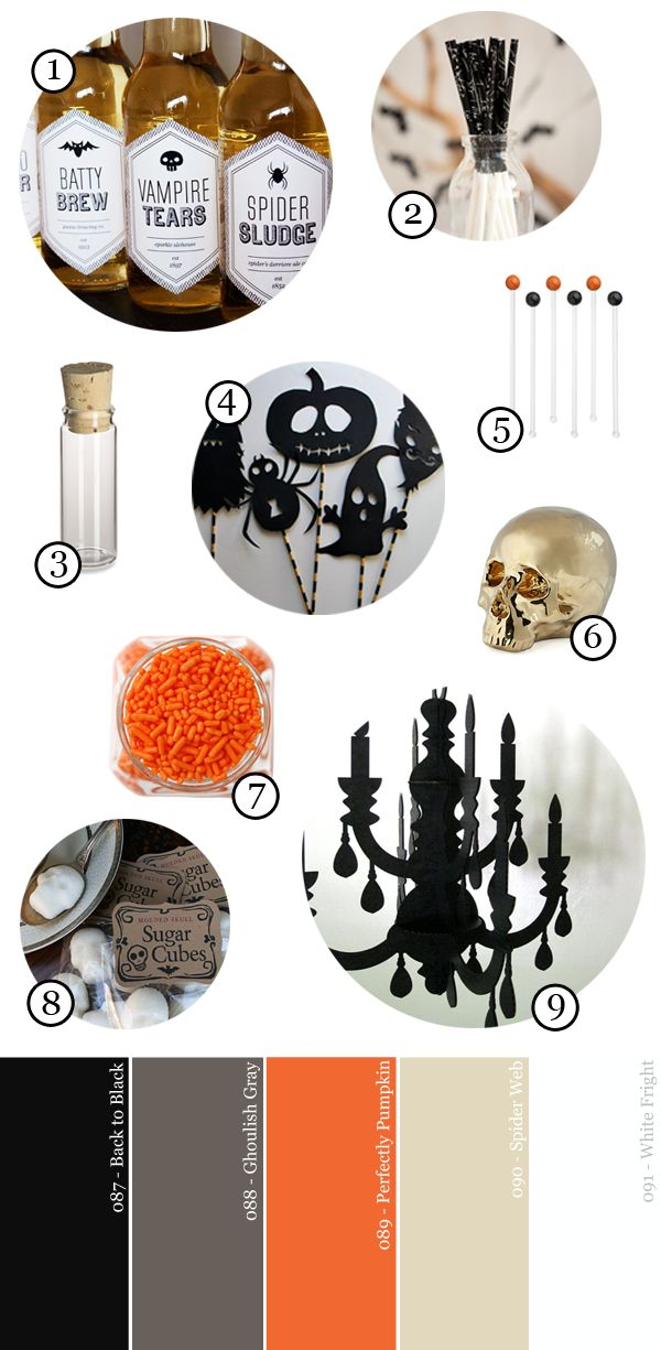 Negro-Naranja-y-Netural-Halloween-Party-Suministro-Guide