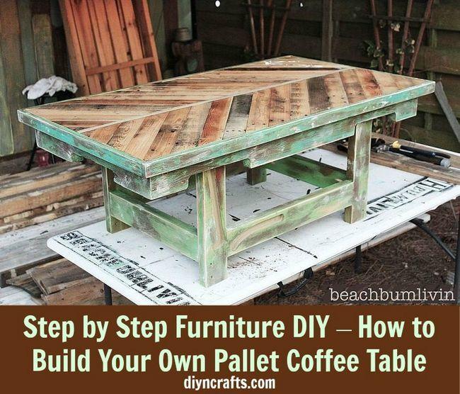 Fotografía - Paso a paso DIY Muebles - Cómo construir su propia Pallet Mesa baja