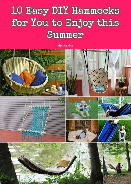 Estirar las piernas y pónte cómodo: 10 DIY fácil hamacas para disfrutar este verano