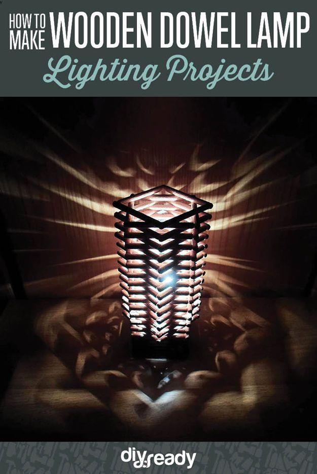 Fotografía - Impresionante Madera de clavijas de la lámpara Decoración Artesanía Tutorial