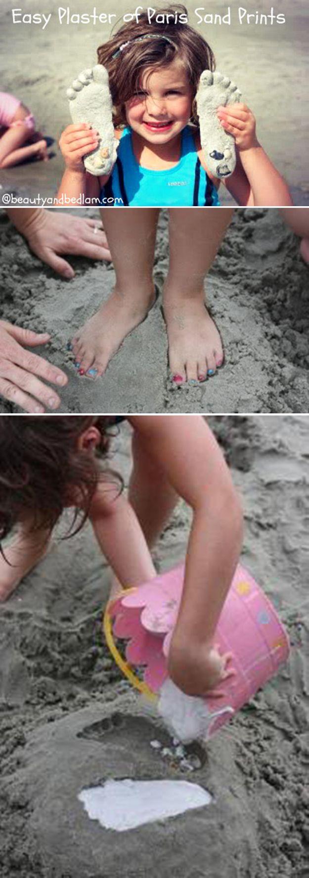 Ideas DIY lindo que hacer el la playa para los niños | http://artesaniasdebricolaje.ru/things-to-do-at-the-beach/