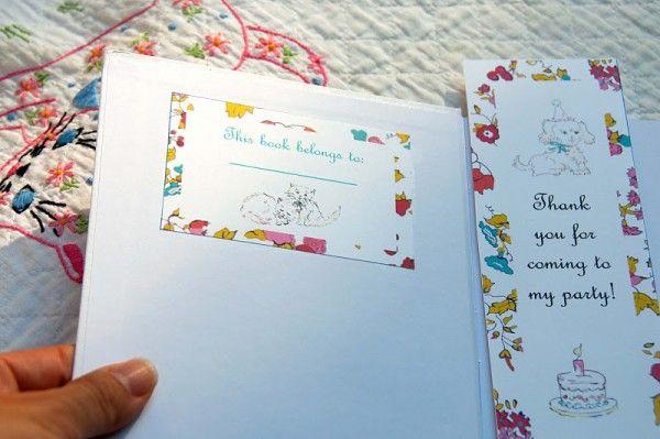 Vintage-bricolaje-libro-cumpleaños-party-Book-Plate-Favores