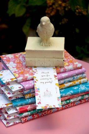 Vintage-DIY-libro-Birthday-Party-libro-Marcas