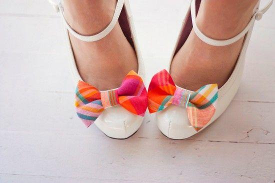 Tela-calzado-clips de muy buen gusto de la primavera-