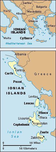 Las islas Jónicas