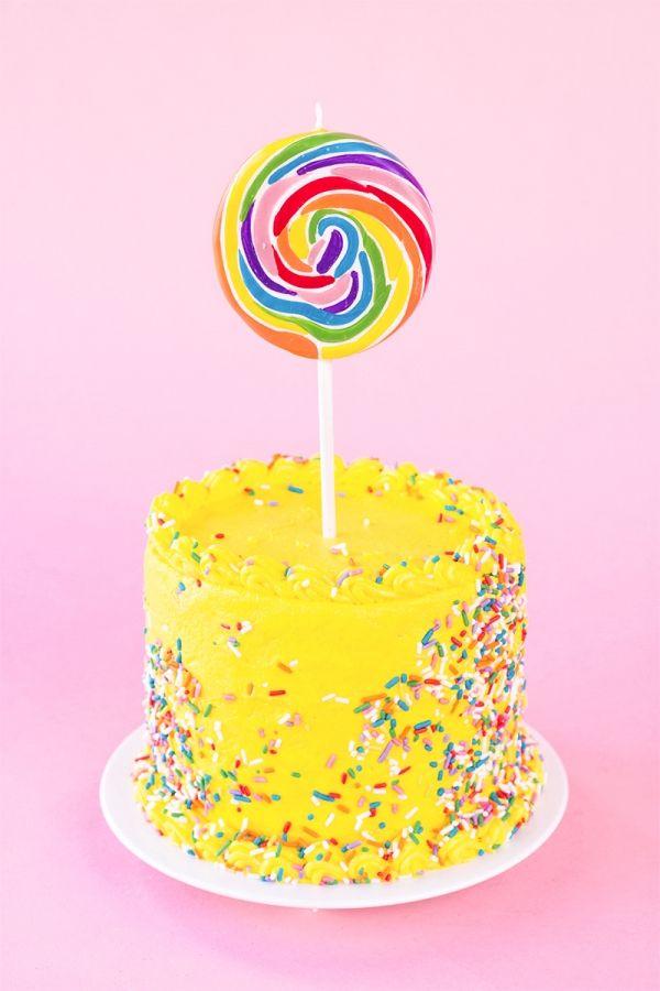 (! Vela) Lolipop pastel de cumpleaños!