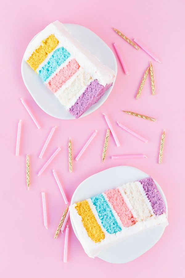 Del bloque del color de la torta
