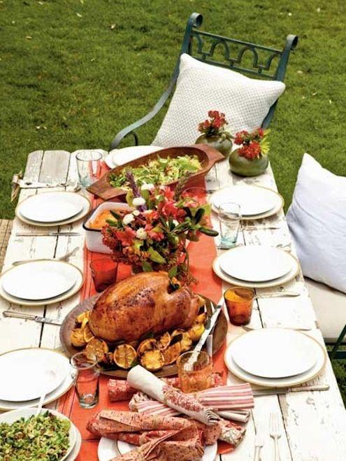 Planificación Espacial Comedor - Cena de Acción de Gracias Aire libre