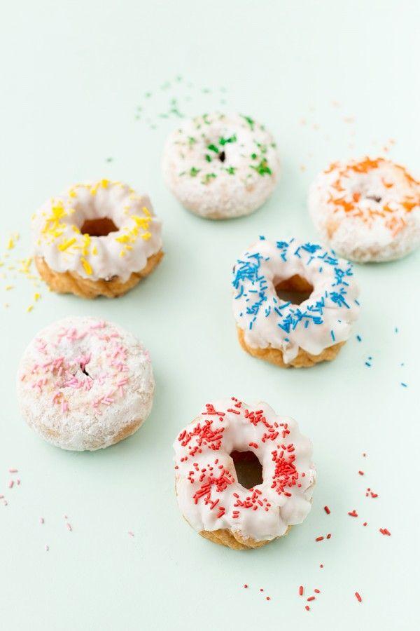 Rainbow Espolvorear Donuts