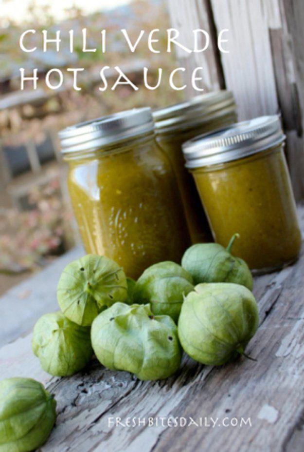 DIY receta salsa verde Fácil caliente | http://artesaniasdebricolaje.ru/top-14-hot-sauce-recipes/