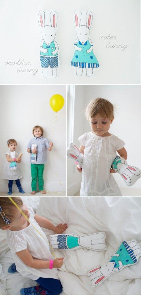 Conejito de hermano y hermana muñecas - Top 28 más adorable bricolaje Proyectos bebés de todos los tiempos