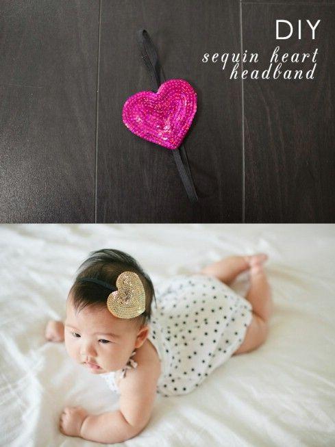 DIY lentejuelas diadema - Top 28 más adorable bricolaje Proyectos bebés de todos los tiempos