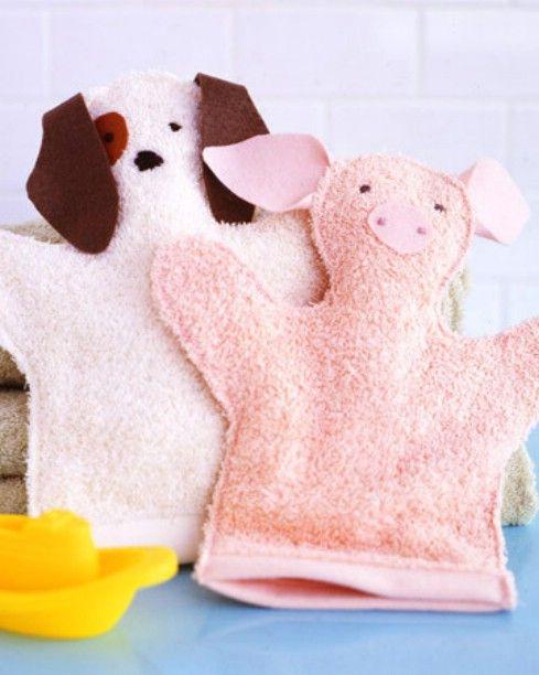 Bricolaje Washcloth Puppets - Top 28 más adorable bricolaje Proyectos bebés de todos los tiempos