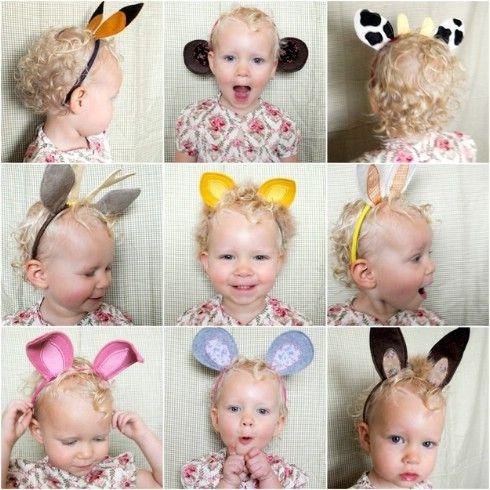 Bricolaje Diademas Oreja animal - Top 28 más adorable bricolaje Proyectos bebés de todos los tiempos