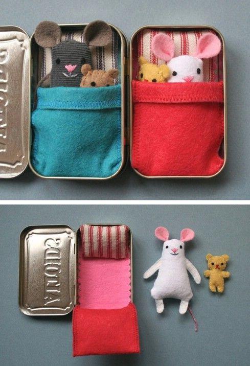 Wee casa estaño ratón - Top 28 más adorable bricolaje Proyectos bebés de todos los tiempos