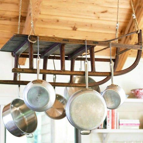 Colgar hangable Utensilios de cocina - Top 58 ideas más creativas Home-Organización y Proyectos de bricolaje