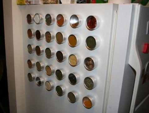 Guarde magnéticos Bastidores especia en su refrigerador - Top 58 más creativos Home-La organización de ideas y proyectos de bricolaje