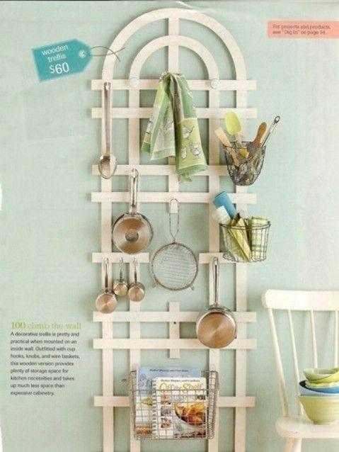 Utilice paredes para colgar utensilios de cocina - Juega con ideas y crear paredes decorativas - Top 58 más creativos Home-La organización de ideas y proyectos de bricolaje