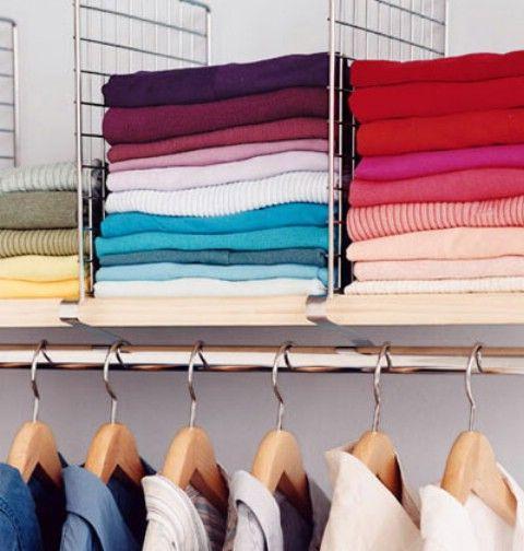 Estantes Divisor para Organizados suéteres y camisas - Top 58 La mayoría de las ideas caseras-Organizar creativas y proyectos de bricolaje