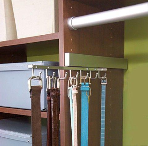 Tienda Cinturones en un estante deslizante - Top 58 ideas más creativas Home-Organización y Proyectos de bricolaje