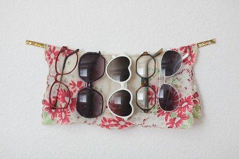 Guarde sus gafas de sol en una cinta de pared adjunta - Top 58 más creativos Home-La organización de ideas y proyectos de bricolaje