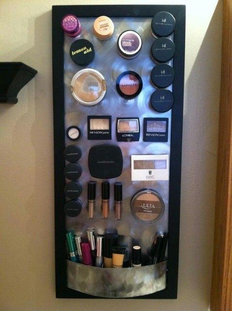DIY Junta maquillaje Magnética - Top 58 La mayoría de las ideas caseras Organizar creativas y proyectos de bricolaje