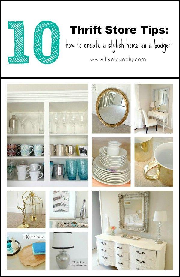 Mi Top 10 Thrift Store Compras Consejos: Cómo decorar con un presupuesto - Top 60 muebles Makeover bricolaje Proyectos y Secretos de negociación
