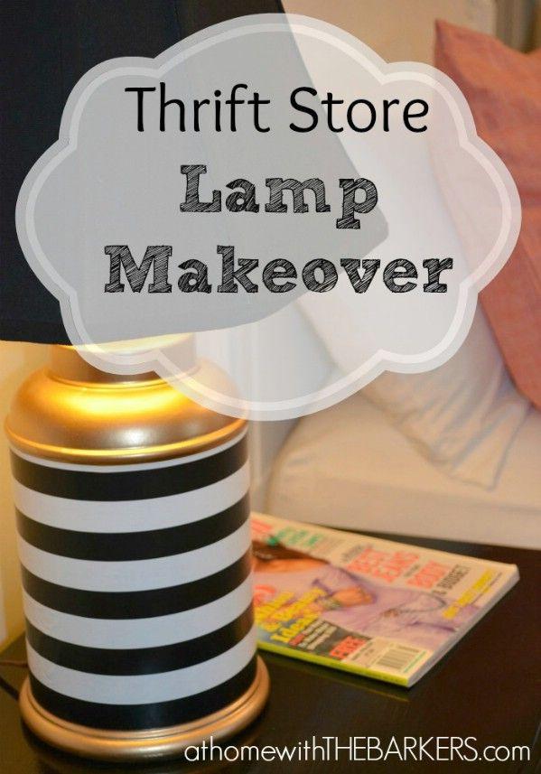Thrift Store Lámpara Makeover - Top 60 muebles Makeover bricolaje Proyectos y Secretos de negociación