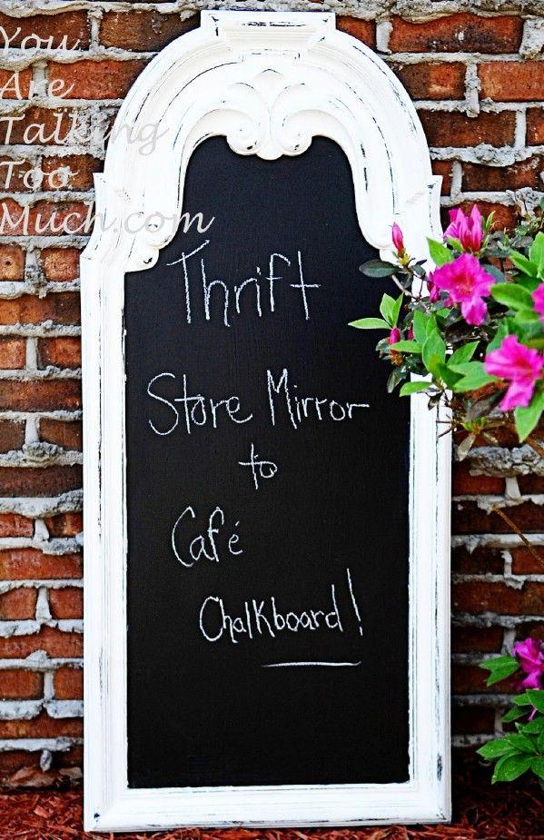 Tienda de segunda mano espejo para café pizarra - Top 60 muebles Makeover bricolaje Proyectos y Secretos de negociación
