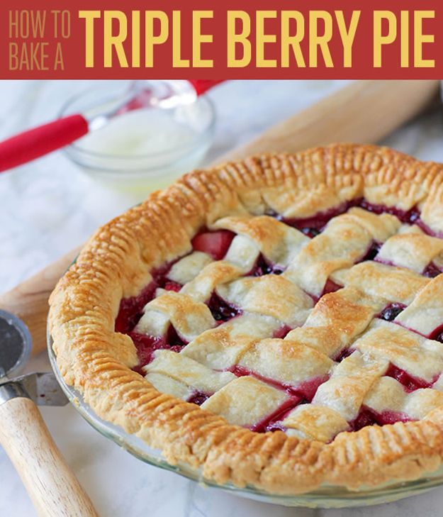 Fotografía - Triple Receta Berry Pie for You bricolaje Postre Divas