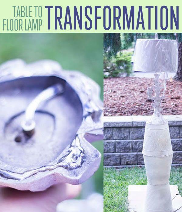 Fotografía - Convertir una lámpara de mesa en una lámpara de pie | Muebles Rehab