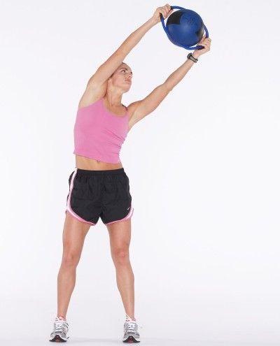 círculo y peso curva ejercicio de levantamiento para las mujeres