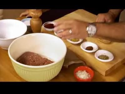 Emeril verdes Recetas: Buffalo hamburguesas
