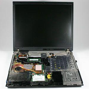 Un portátil abierto