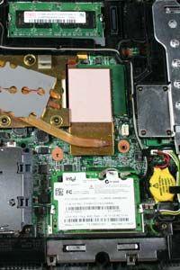 RAM, tarjeta de red inalámbrica y la batería
