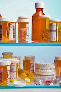 botellas de prescripción