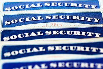 Tarjetas de la seguridad social.