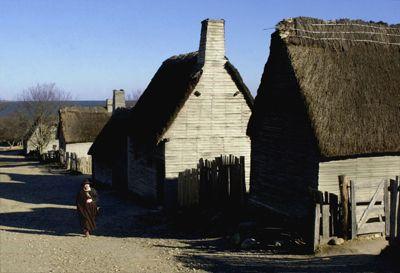 Recreación de la plantación de Plymouth